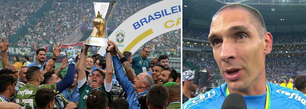 Goleiro do Palmeiras sobre Bolsonaro: 'nem consegui pegar a taça'