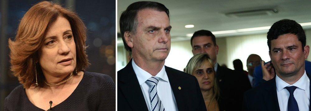 Miriam Leitão cobra de Moro e dos Bolsonaro explicação convincente sobre o caso Queiroz