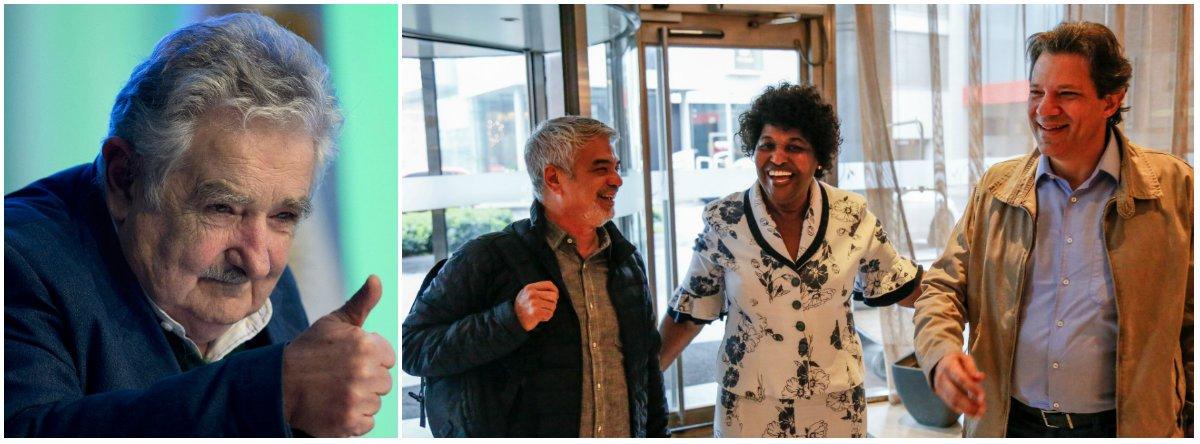 Parlamentares do PT fazem visita a Mujica e pedem Lula Livre