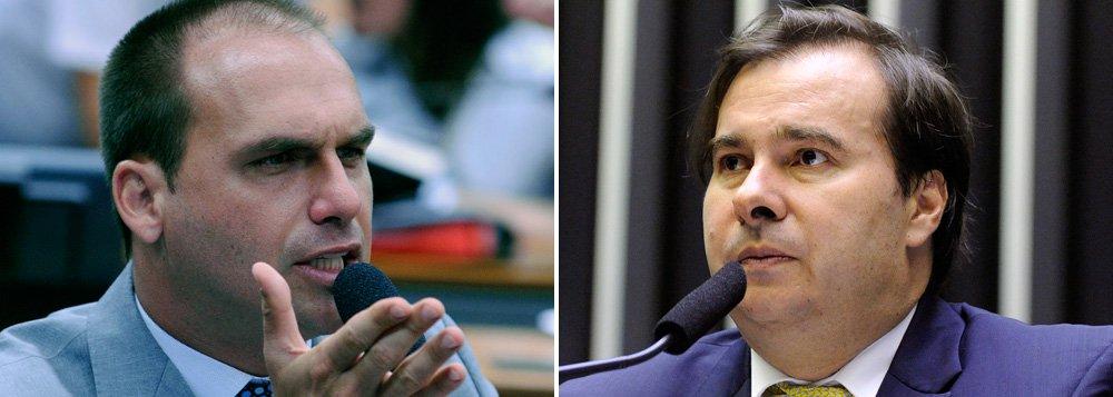 Eduardo Bolsonaro descarta apoiar Maia à Presidência da Câmara