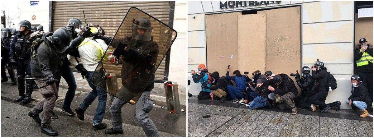 Polícia francesa entra em conflito com manifestantes em Paris