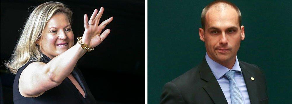 Joice enquadra Eduardo Bolsonaro: ponha-se no seu lugar