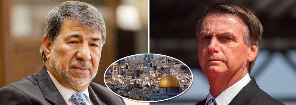 Bolsonaro agravará conflito se mudar embaixada, diz embaixador palestino