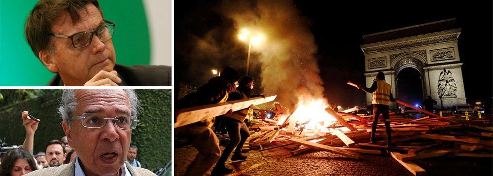Revolta na França, crise do liberalismo, paralisia da esquerda