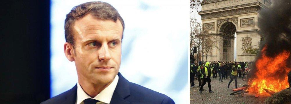 Protesto contra Macron termina com 200 presos e 90 feridos