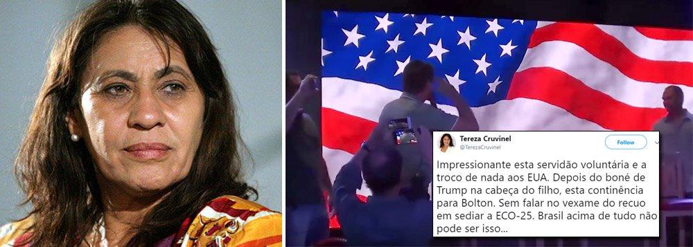 Tereza Cruvinel critica a 'servidão voluntária' de Bolsonaro aos EUA