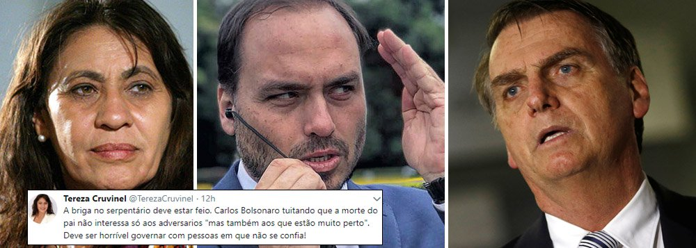 Post de Carlos Bolsonaro sobre morte do pai revela guerra intensa nos bastidores do poder