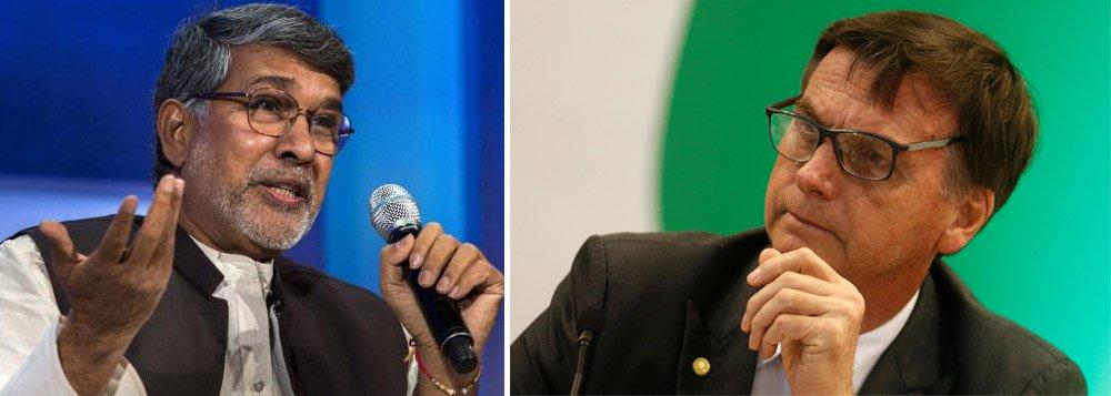 Em carta, Nobel da Paz pede que Bolsonaro respeite os direitos humanos