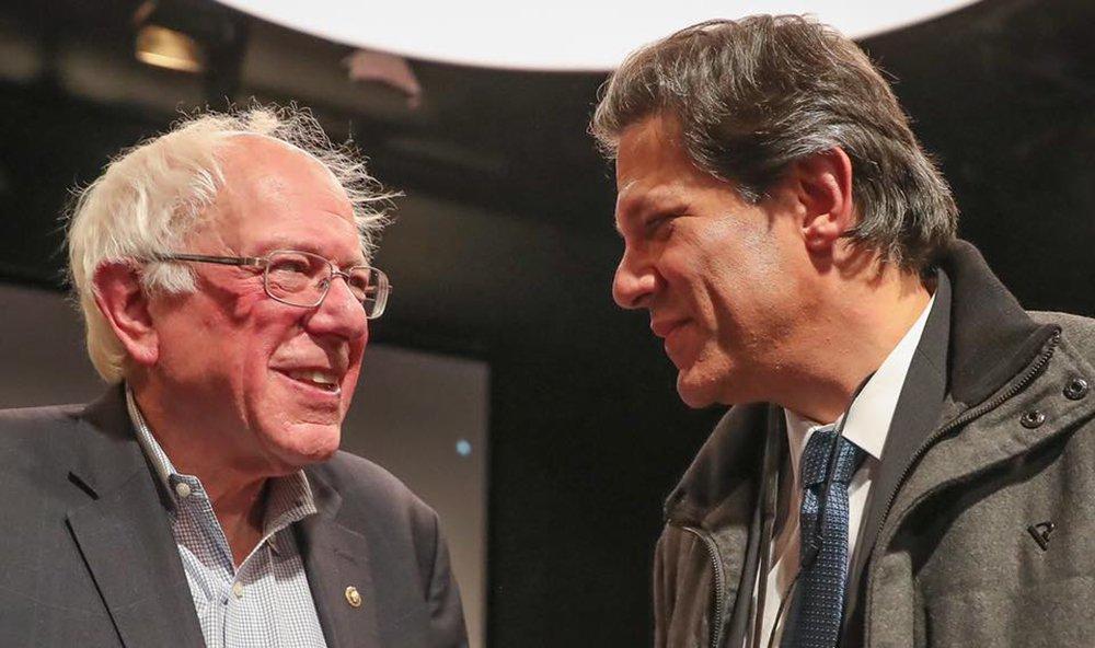 Haddad e Sanders lançam frente progressista global