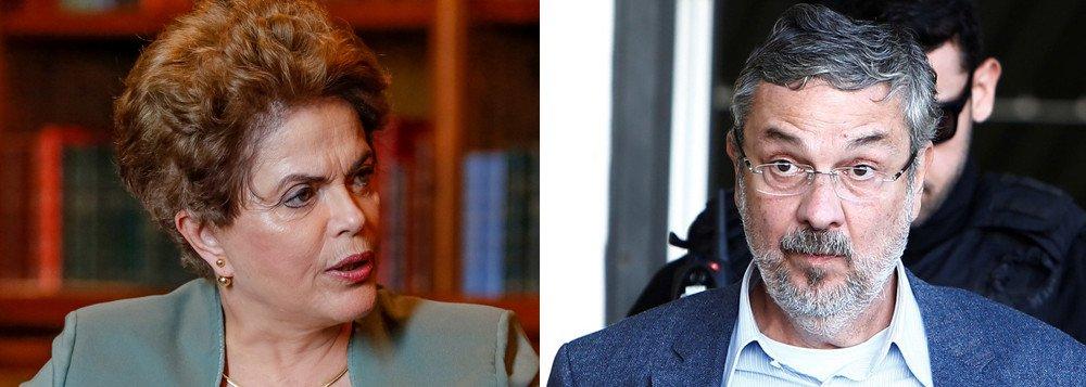 PT teme uso de delação de Palocci para ação violenta contra Dilma