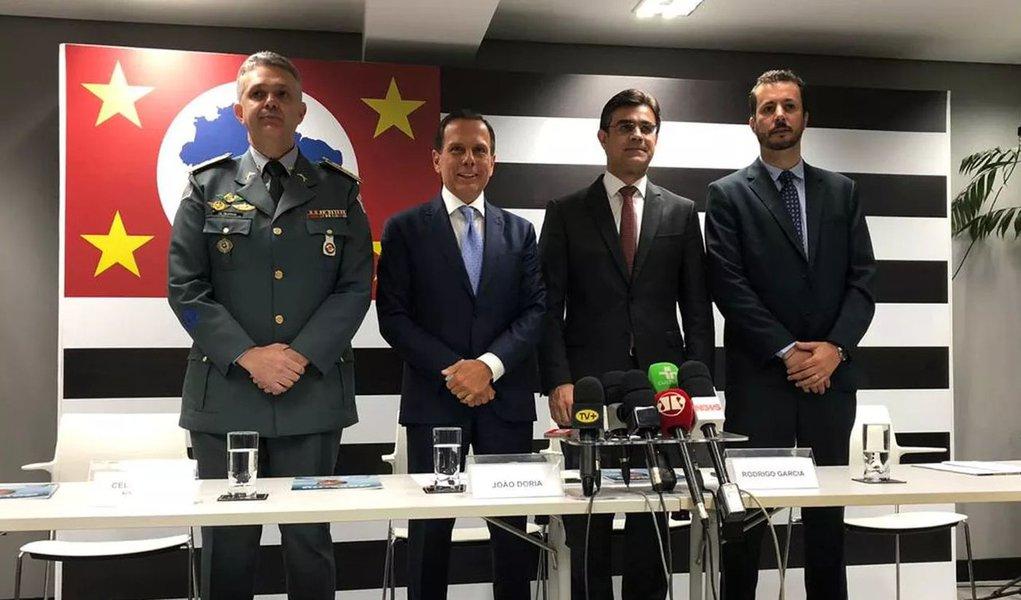 Doria anuncia PM como coordenador da Defesa Civil