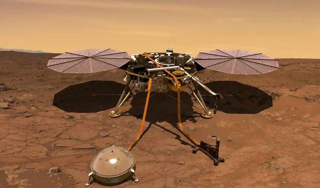 Sonda da Nasa pousa em Marte