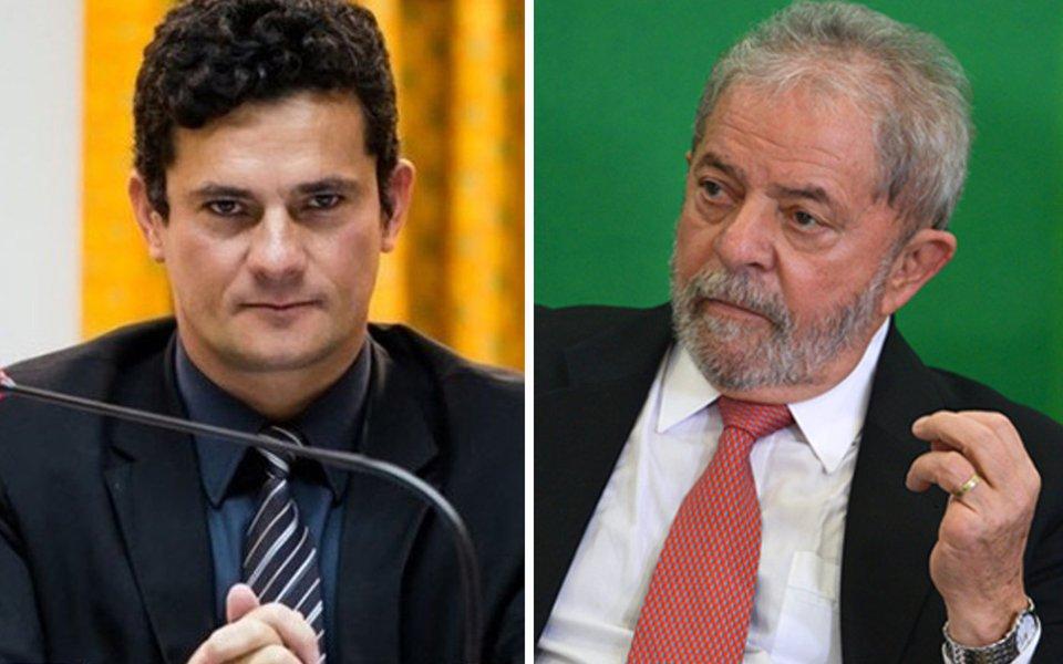 Lula: Moro saiu do armário