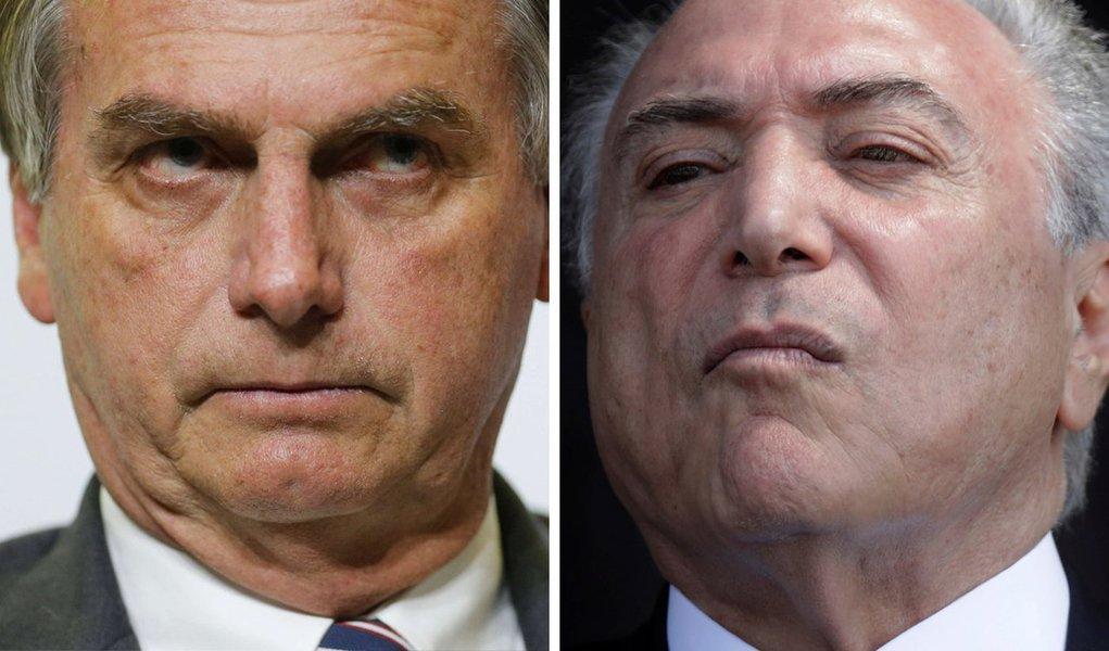 Temer confirma: Bolsonaro é a continuidade do seu governo