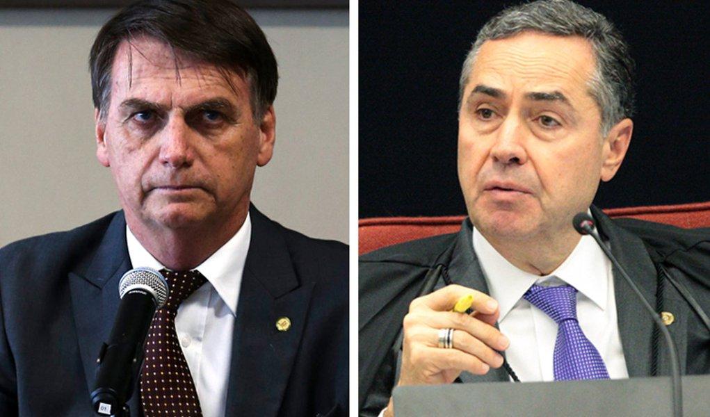 Barroso dá 3 dias para Bolsonaro explicar 'inconsistências' em contas