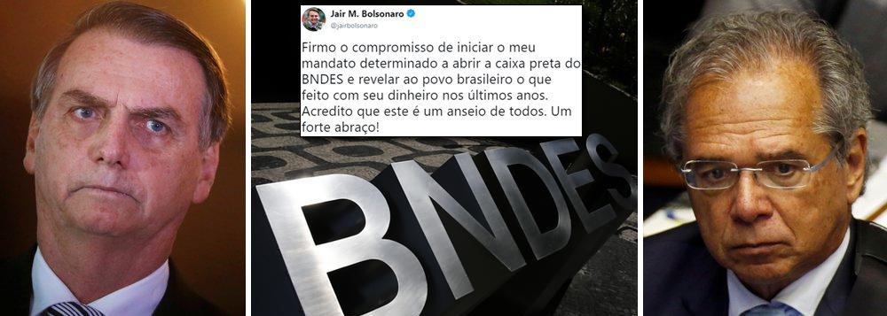 Bolsonaro volta a ameaçar economia brasileira e agora ataca o BNDES