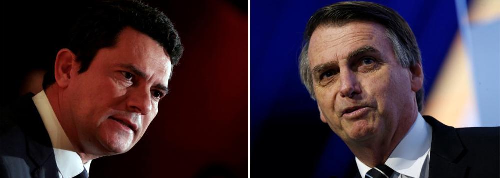 Bolsonaro e Moro: titular e reserva em 2022