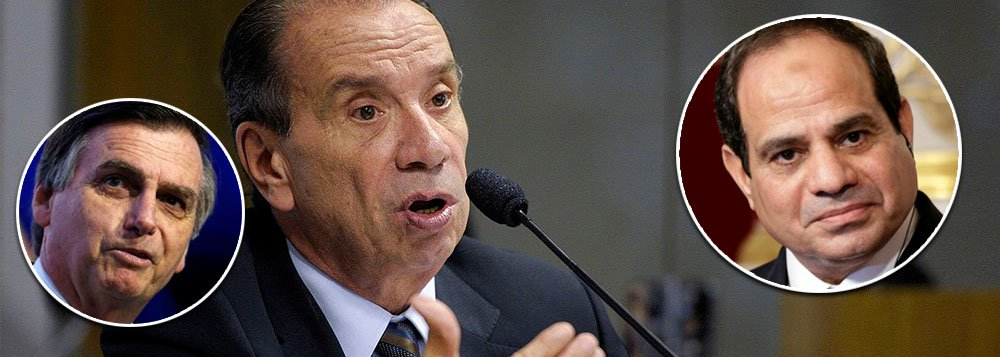 Egito barra chanceler do Brasil por política externa ideológica de Bolsonaro