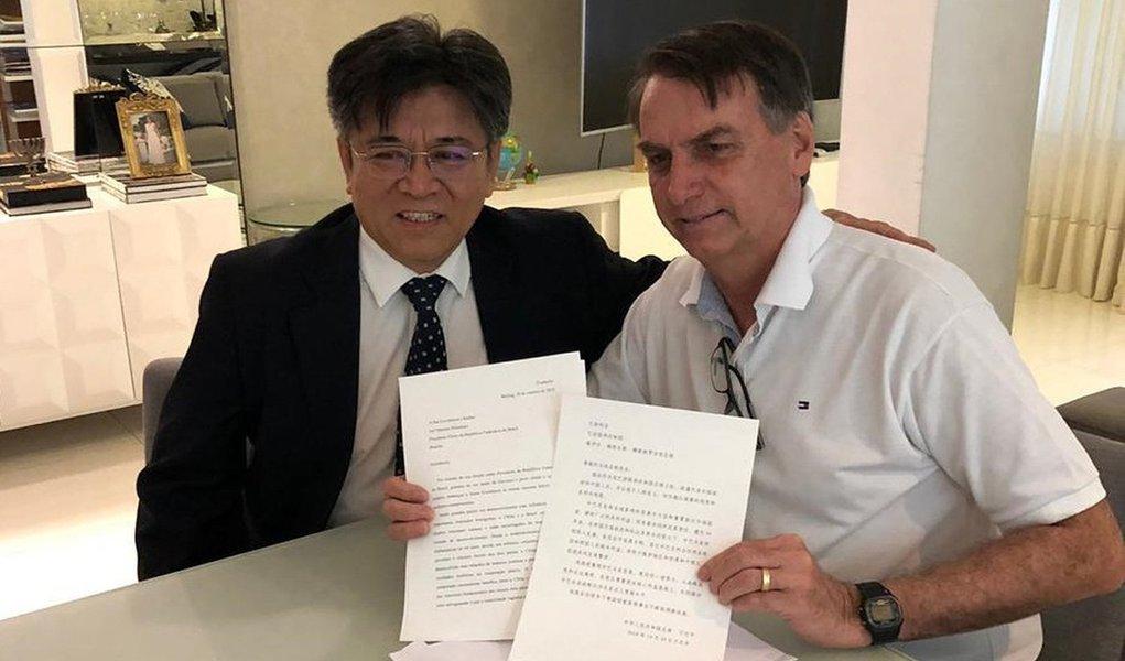 Embaixador da China visita Bolsonaro para conter movimentos hostis