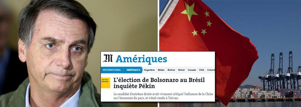 Bolsonaro preocupa Pequim e economia brasileira pode sofrer forte impacto