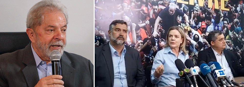 """Gleisi: """"nós tememos pela vida do presidente Lula"""""""