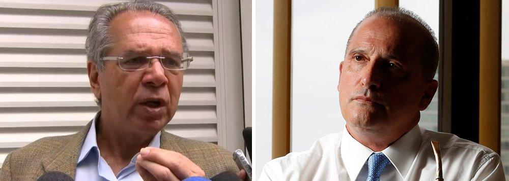 Guedes enquadra Lorenzoni: é político falando de economia