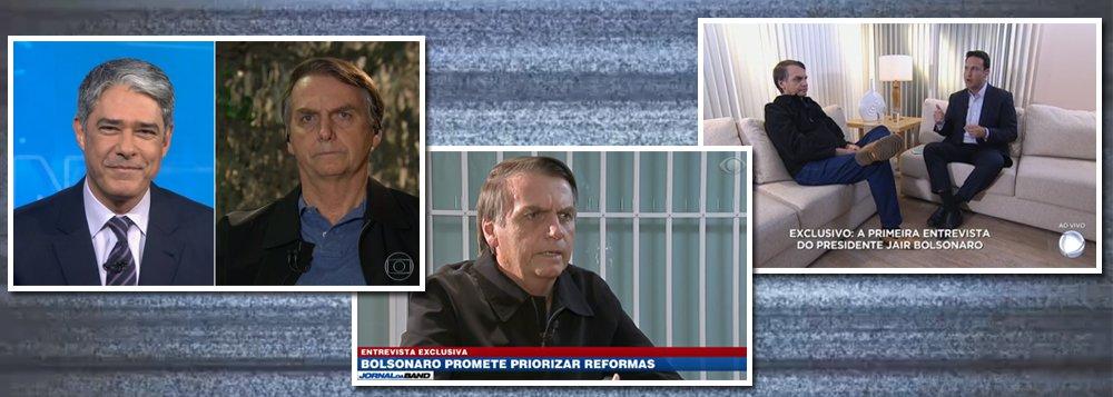 Nas TVs, Bolsonaro mantém o discurso de guerra e ameaça líderes do PT e PSOL