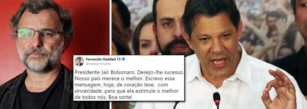Sobre o tweet de Haddad para Bolsonaro