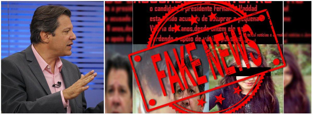 Em desespero, bolsonaristas espalham fake news e Haddad reage