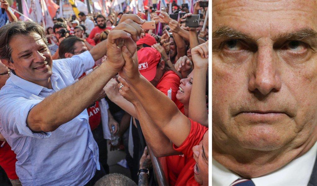Ibope aponta queda de Bolsonaro e resultado de 54% a 46%