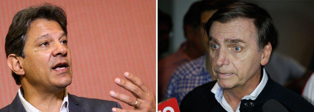 Bolsonaro também cai no Datafolha: 55% a 45%