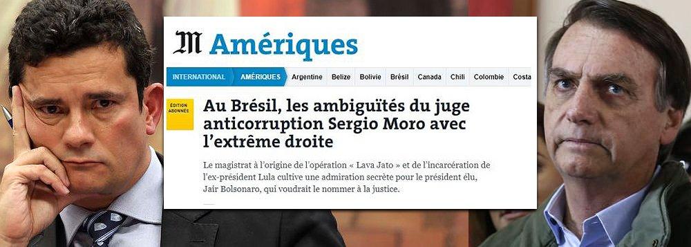 Le Monde: Moro confirmará ser juiz 'seletivo' se virar ministro de Bolsonaro