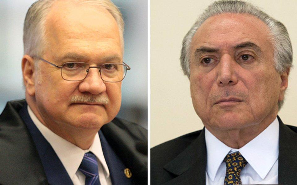 STF suspende inquérito da Odebrecht contra Temer por imunidade presidencial