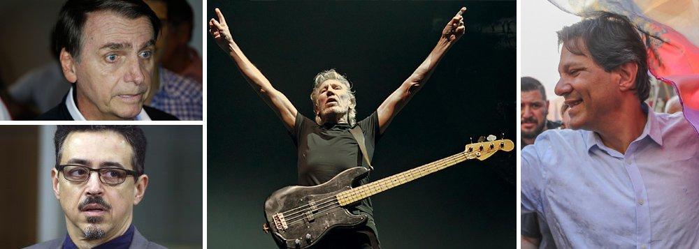 Com medo da virada, Bolsonaro pede inelegibilidade de Haddad por show de Roger Waters