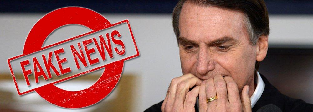 Das 123 fake news encontradas por agências de checagem, 104 beneficiaram Bolsonaro