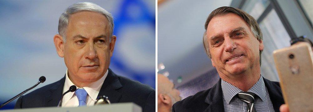Netanyahu virá ao Brasil pela 1ª vez, para a posse de Bolsonaro