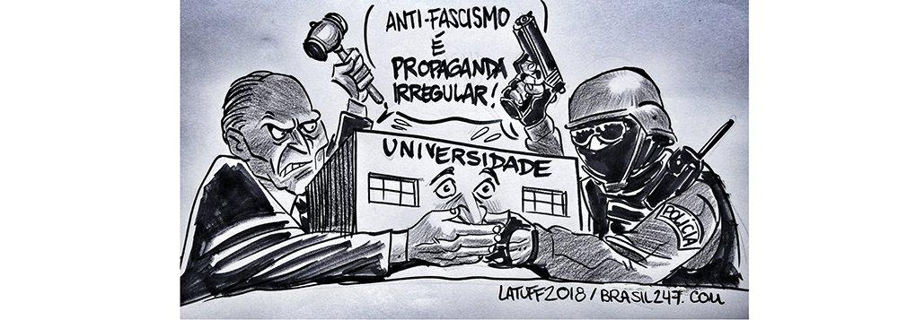 Latuff retrata a ofensiva contra as universidades