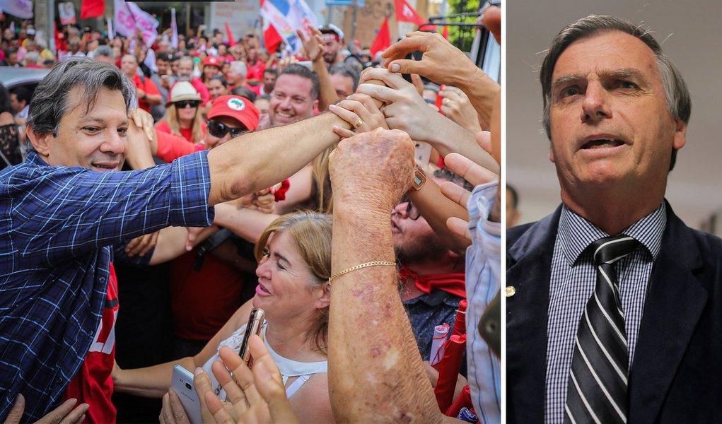 Movimentos sociais voltam às ruas por Haddad e contra Bolsonaro