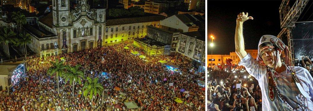 Ato gigantesco em Recife marca virada e Haddad aposta na vitória