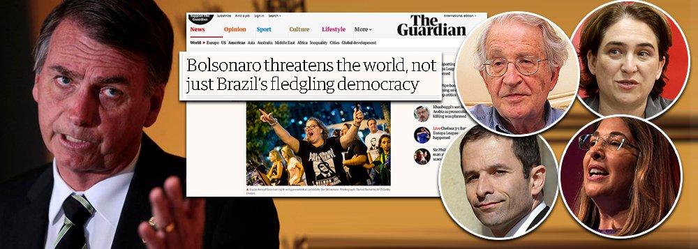 Manifesto de intelectuais no Guardian aponta: Bolsonaro é risco global