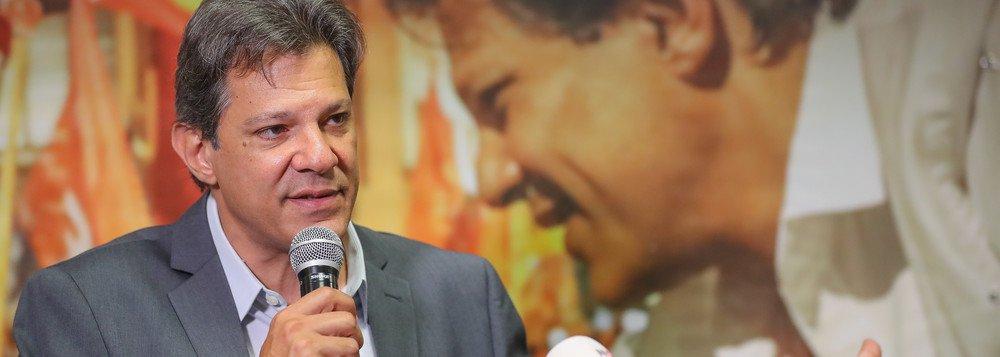 Haddad diz que exterior reconhece melhor riscos que Brasil corre com Bolsonaro