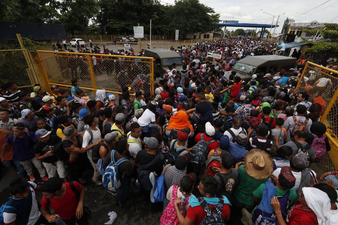 Migrantes da América Central seguem para o norte no México