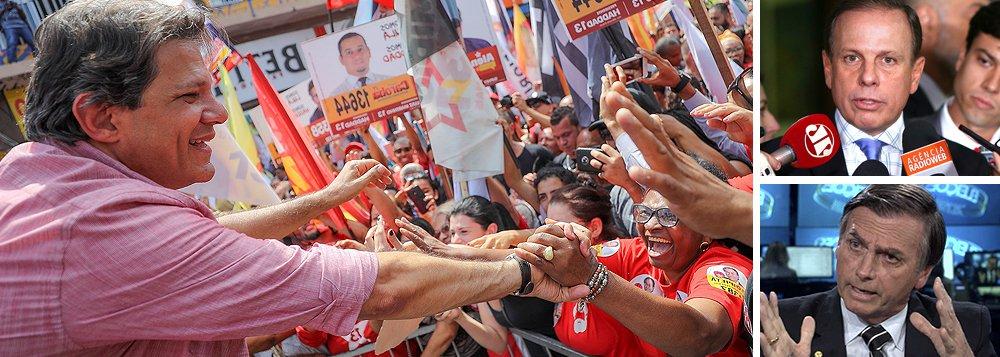 Doria derruba Bolsonaro e Haddad lidera em São Paulo