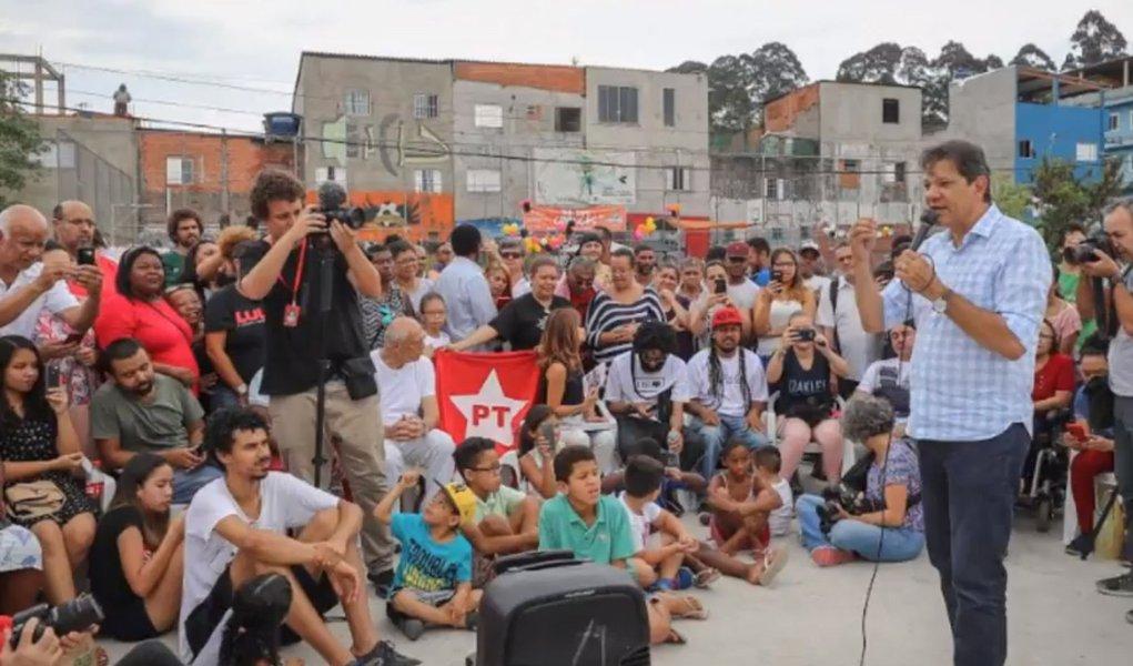 Haddad diz que pode virar eleição se rejeição de Bolsonaro continuar a subir