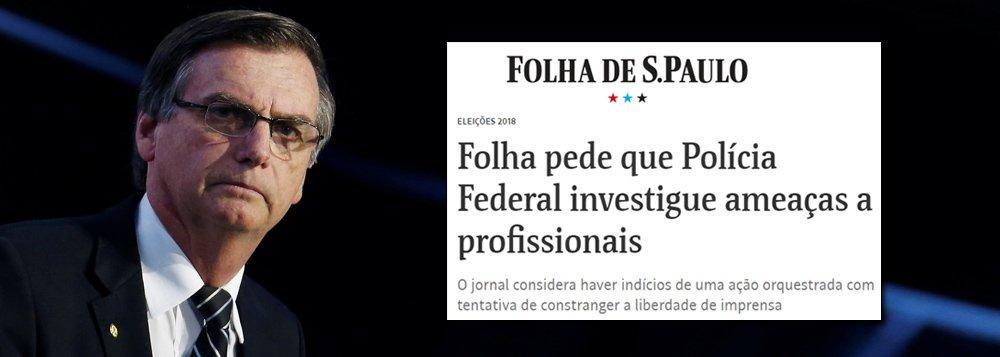 Folha pede proteção policial contra ameaças de bolsonaristas