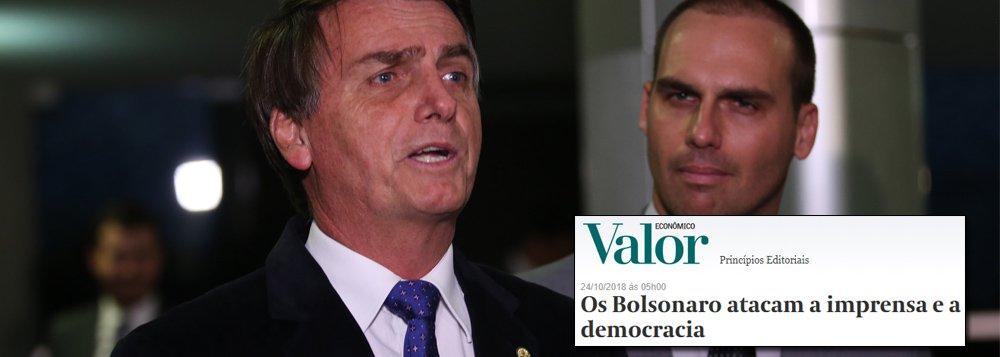 Valor Econômico: 'Os Bolsonaro atacam a imprensa e a democracia'