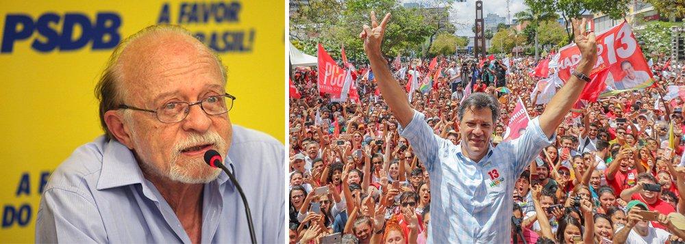 Tucano histórico, Alberto Goldman declara voto em Haddad