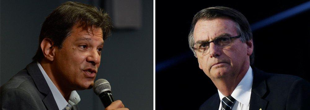 Ibope: Bolsonaro tem 57% e Haddad, 43%