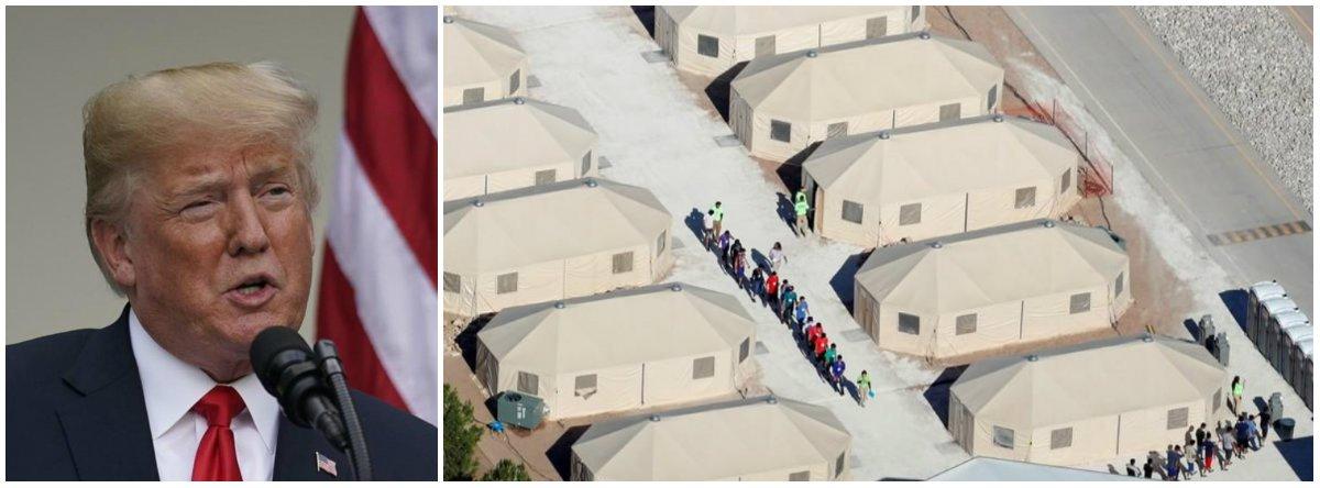 EUA mantêm centenas de crianças imigrantes em barracas há meses, dizem documentos