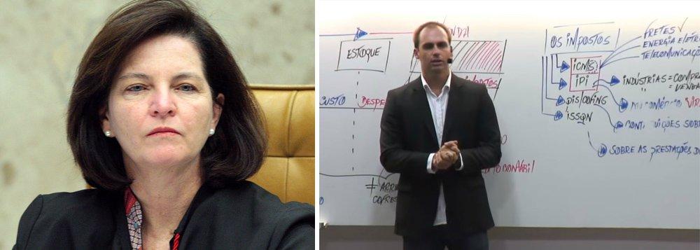 Dodge não diz se abrirá investigação contra filho de Bolsonaro que falou em fechar o STF